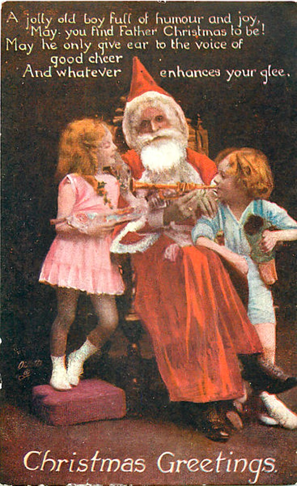 Father Christmas Soothed Children