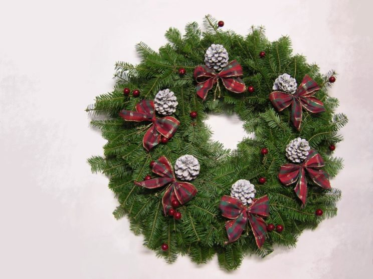 A Victorian Christmas Wreath Welcomes Visitors To Your Victorian