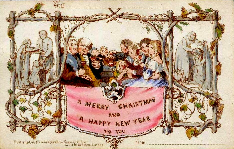 Victorian Style Christmas Cards - Victorian Christmas Party